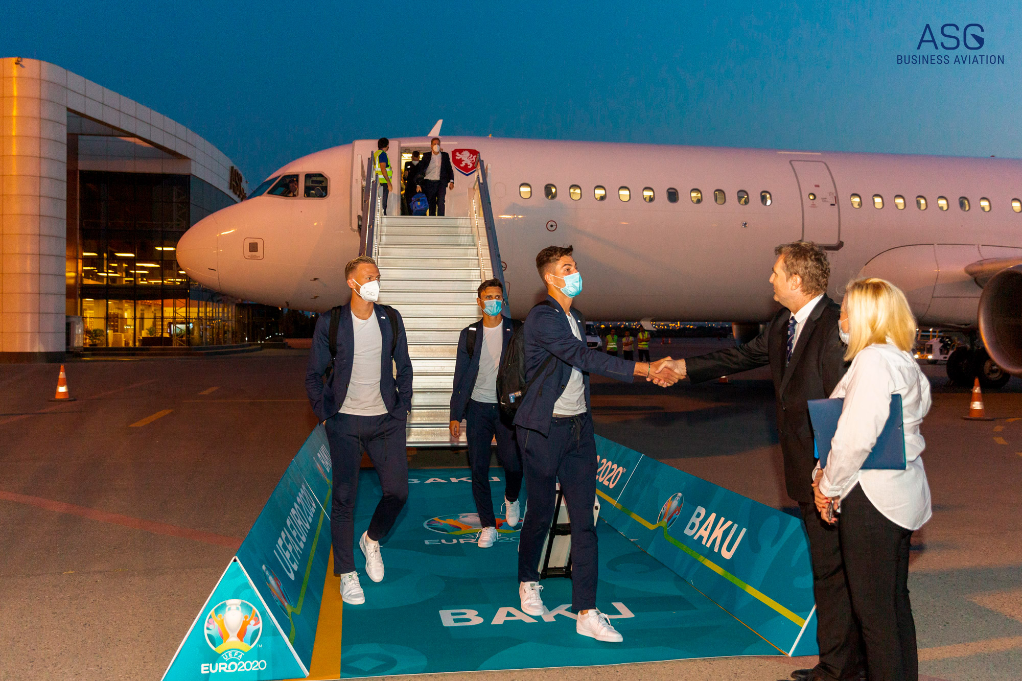 ASG Business Aviation hosted football players of the ¼ final of EURO 2020